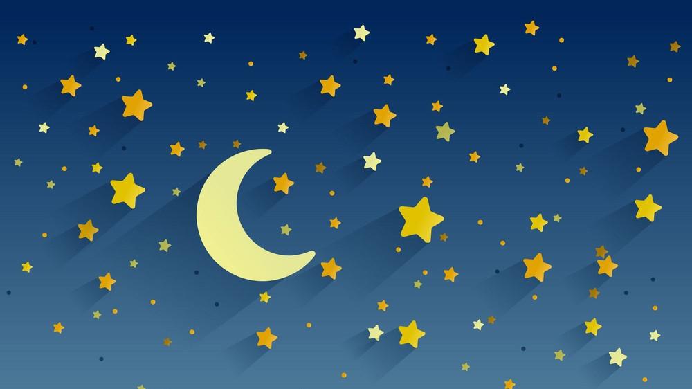 Estrellas y luna