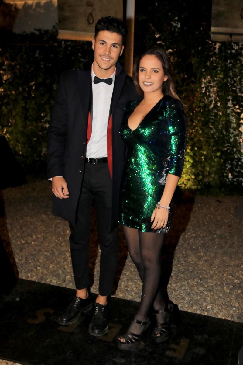 Gloria Camila con el vestido de lentejuelas de Zara junto a su pareja Kiko Jiménez