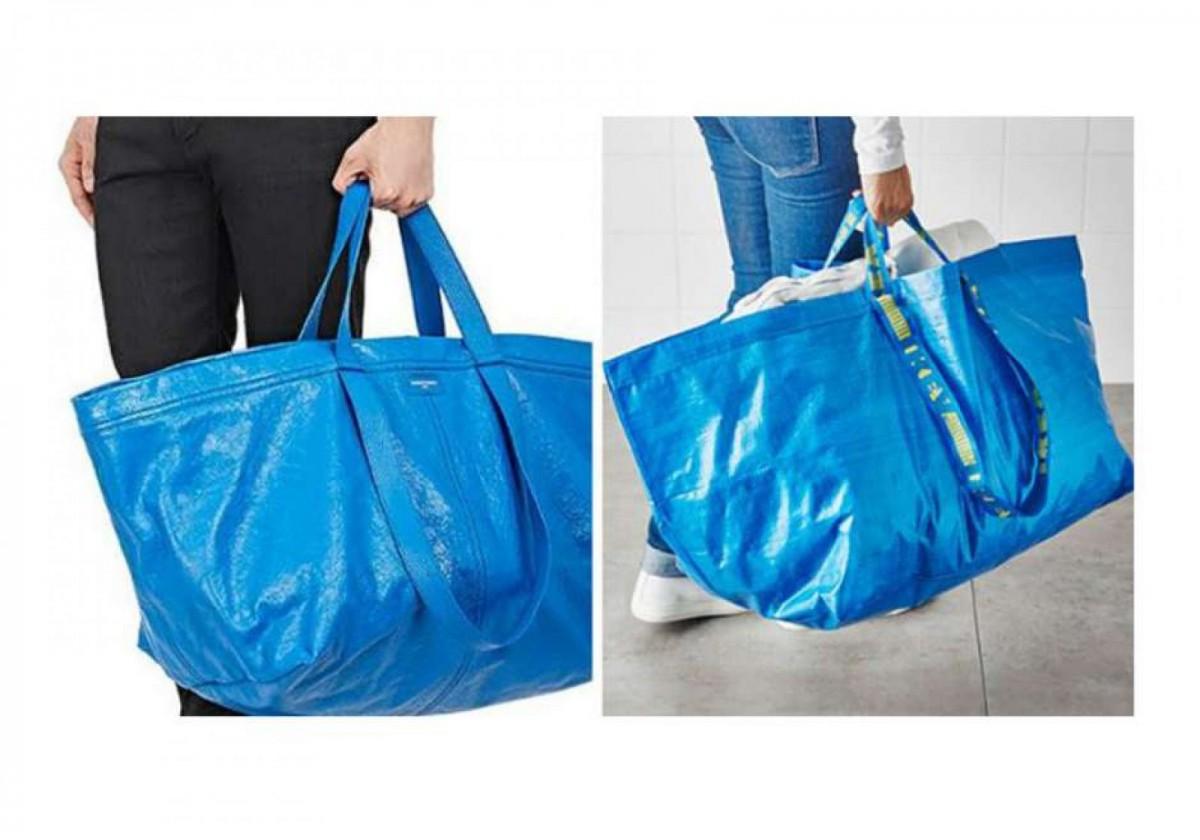 Bolso de Balenciaga y la bolsa de Ikea