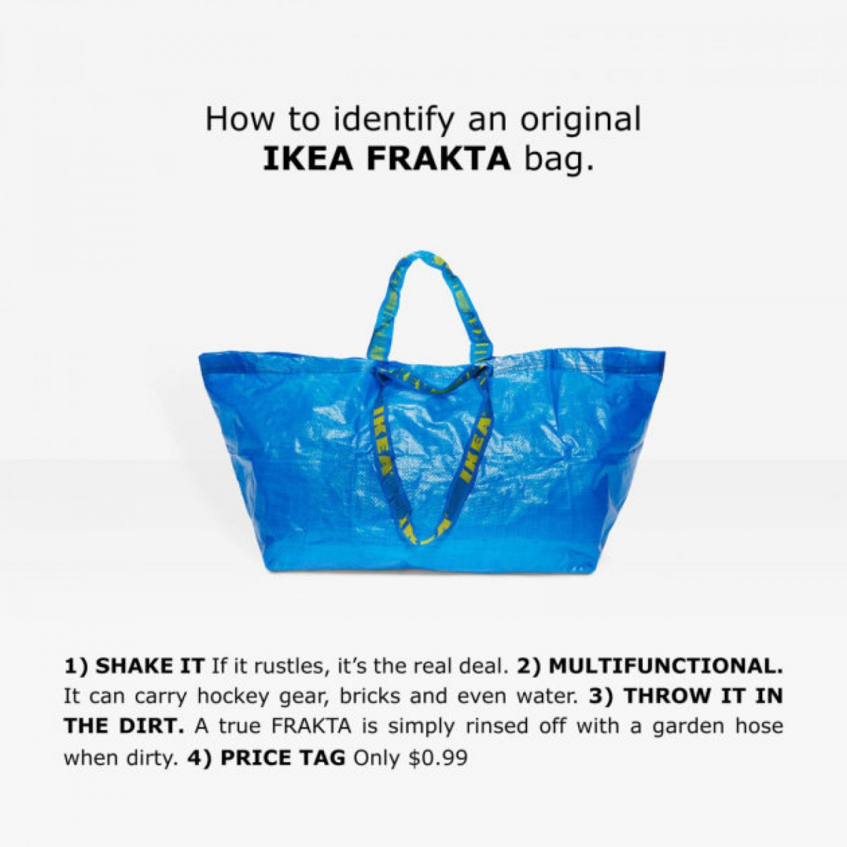 Ikea «ayuda» a diferenciar su bolsa de las imitaciones