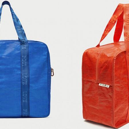Bolsa de Zara inspirada en la bolsa de Ikea