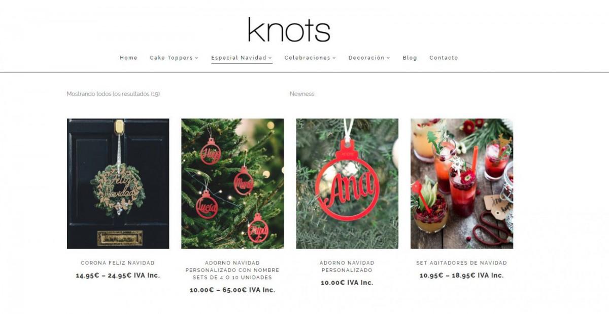 Adornos personalizados de Knots