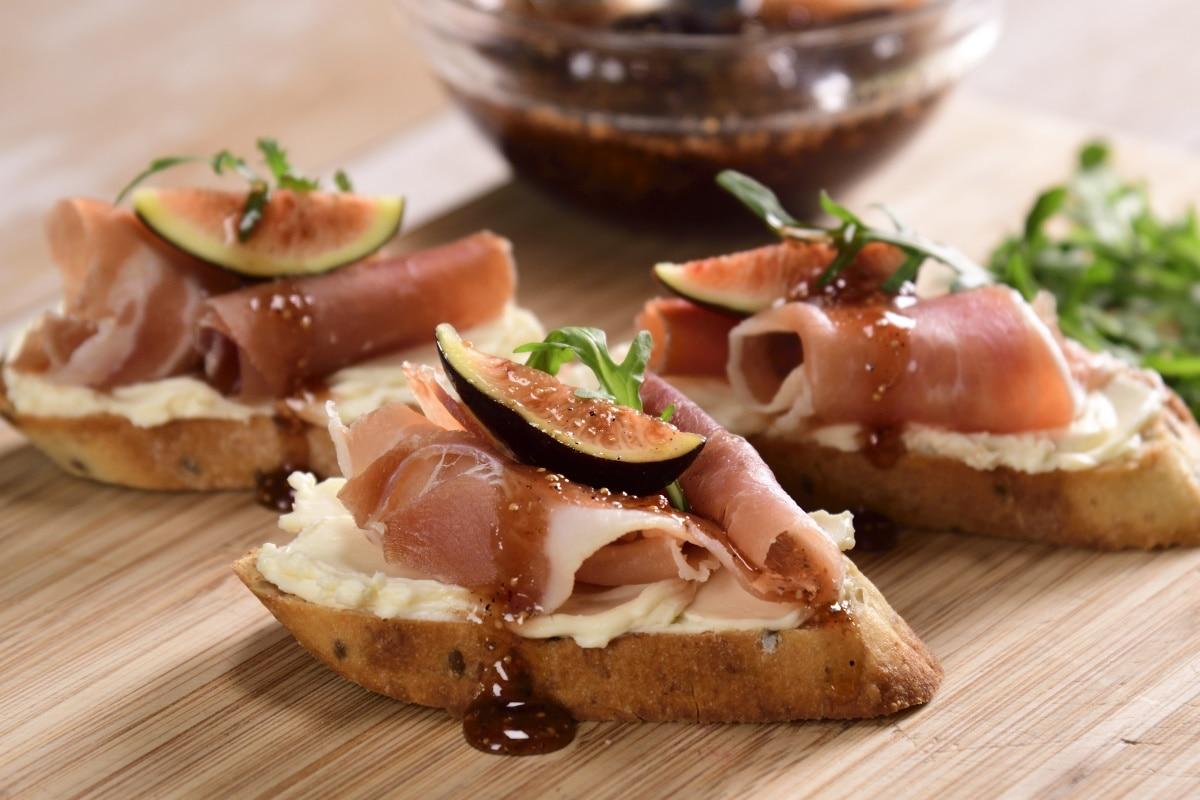 Pan higos jamón