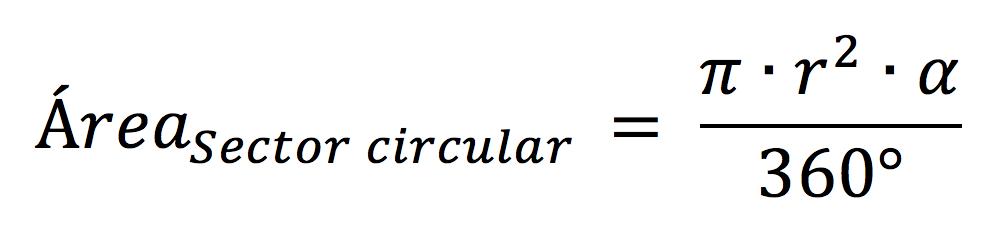 Área sector circular