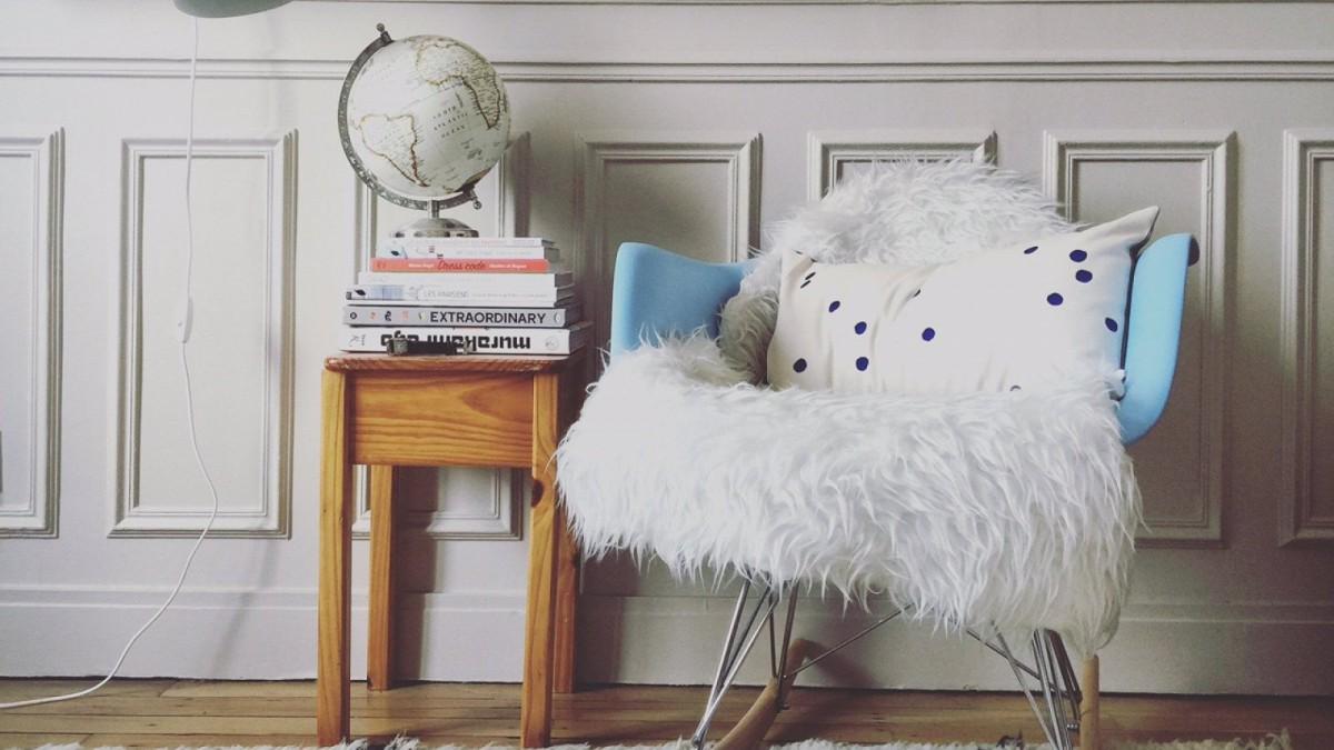 La alfombra Tejn puede usarse como respaldo para una silla
