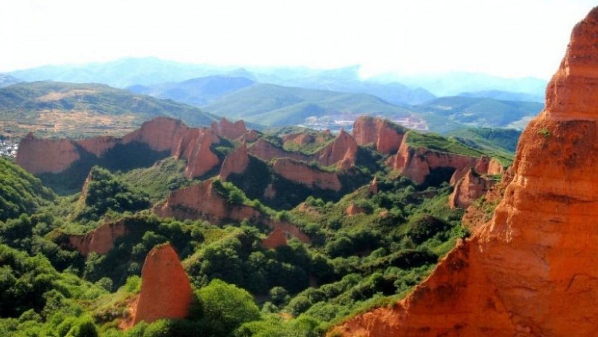 Fantástico paisaje de Las Médulas en León.