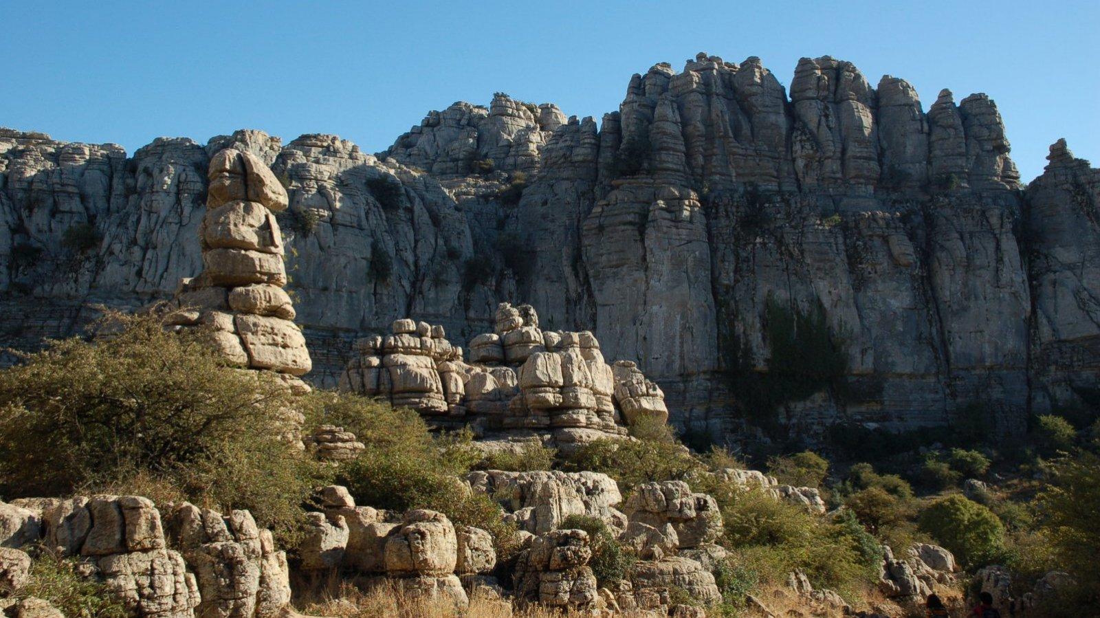 La curiosa formación rocosa de Antequera.