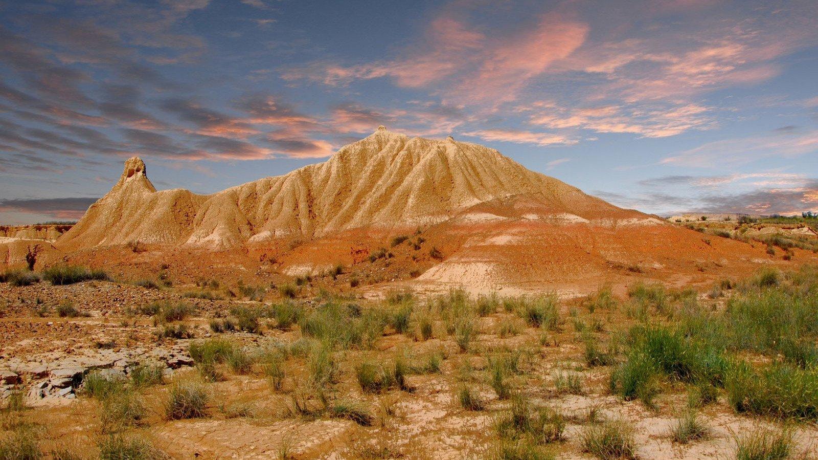 El paisaje propio de un western de las Bárdenas Reales.