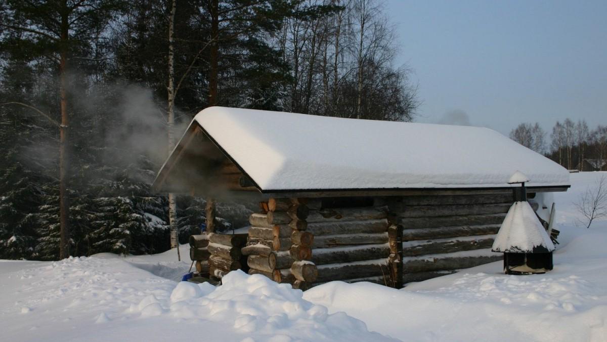 Las saunas las realizan en cabañas