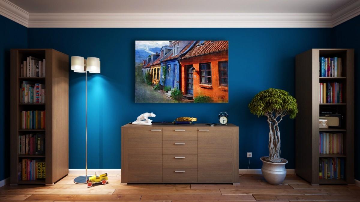 Cada ambiente se ve favorecido por un color.