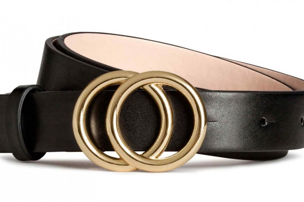 Cinturón que versiona el famoso de Gucci, disponible en H&M por 5,99 euros