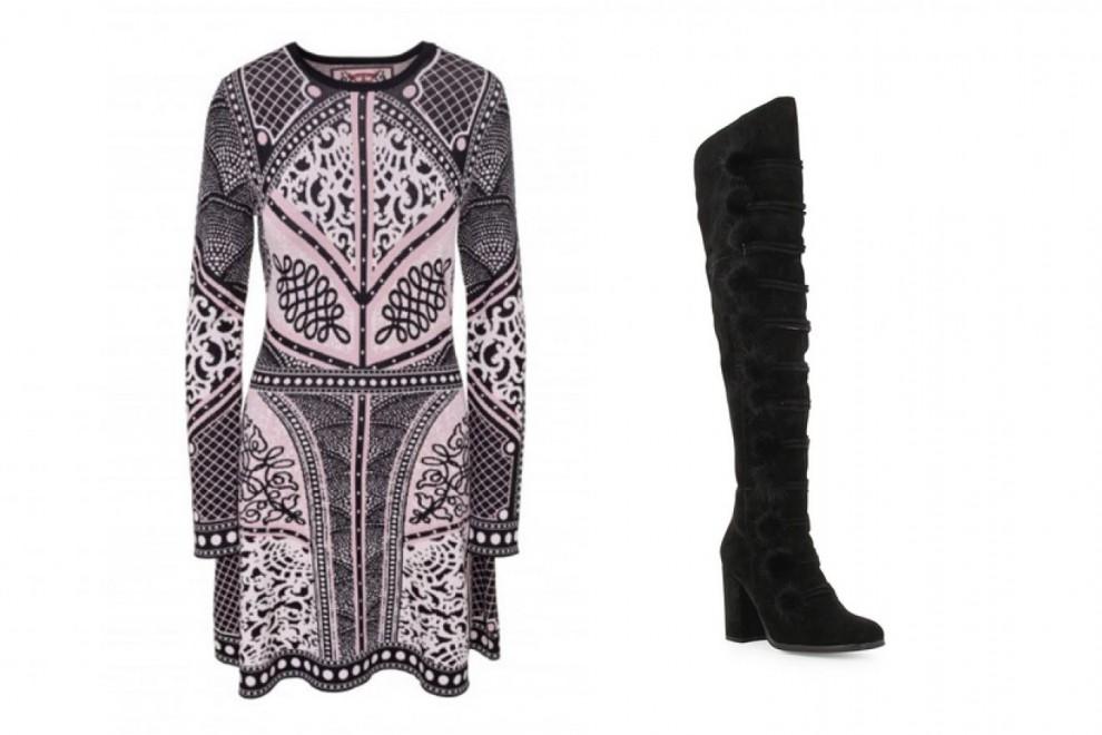 El vestido y las botas altas que ha lucido Pilar Rubio