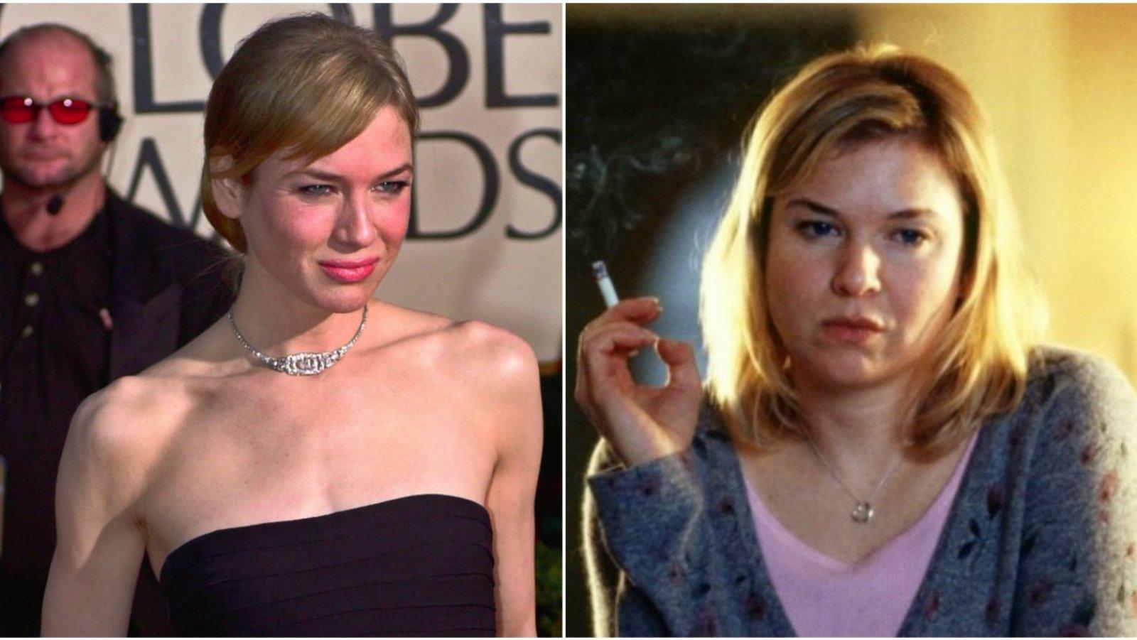 La actriz Renée Zellweger adelgazó mucho tras interpretar a Bridget Jones.
