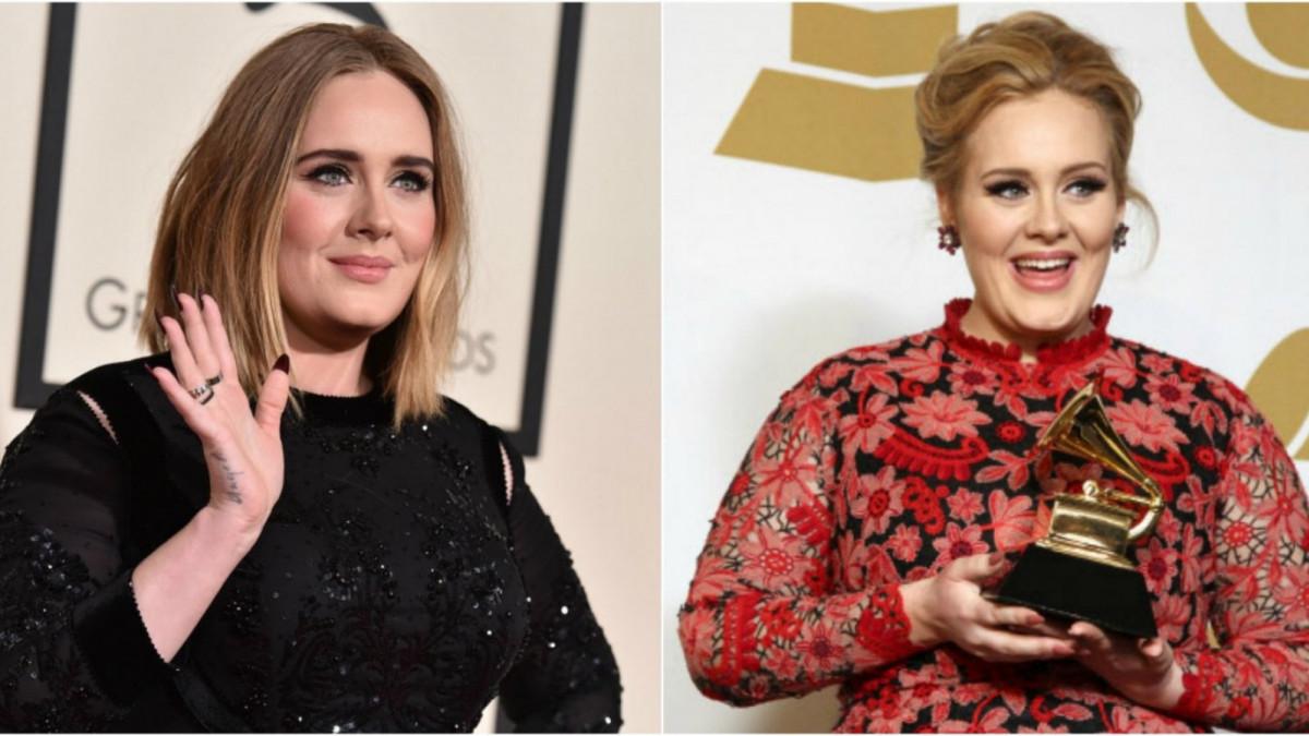 La cantante Adele perdió peso en un año.