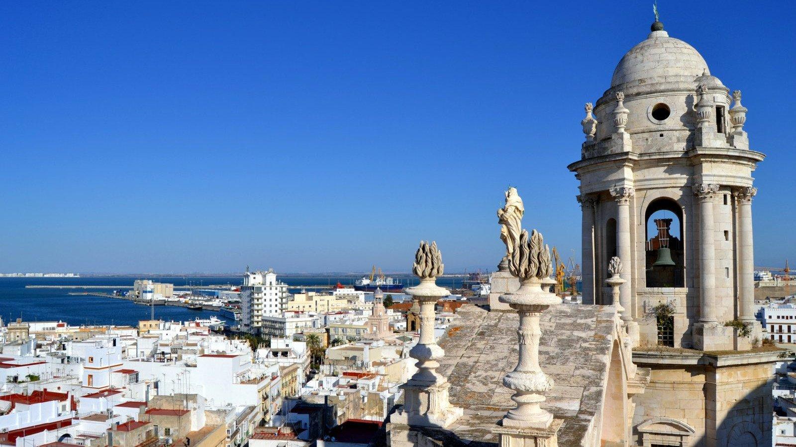 Vistas de Cádiz desde una de sus torres.