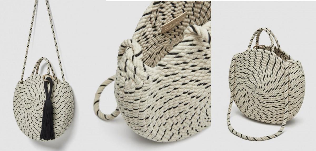 Saca redonda de algodón de Zara, por 39,95 euros