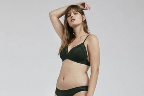 Una de las imágenes de la nueva colección de Oysho con la modelo talla L