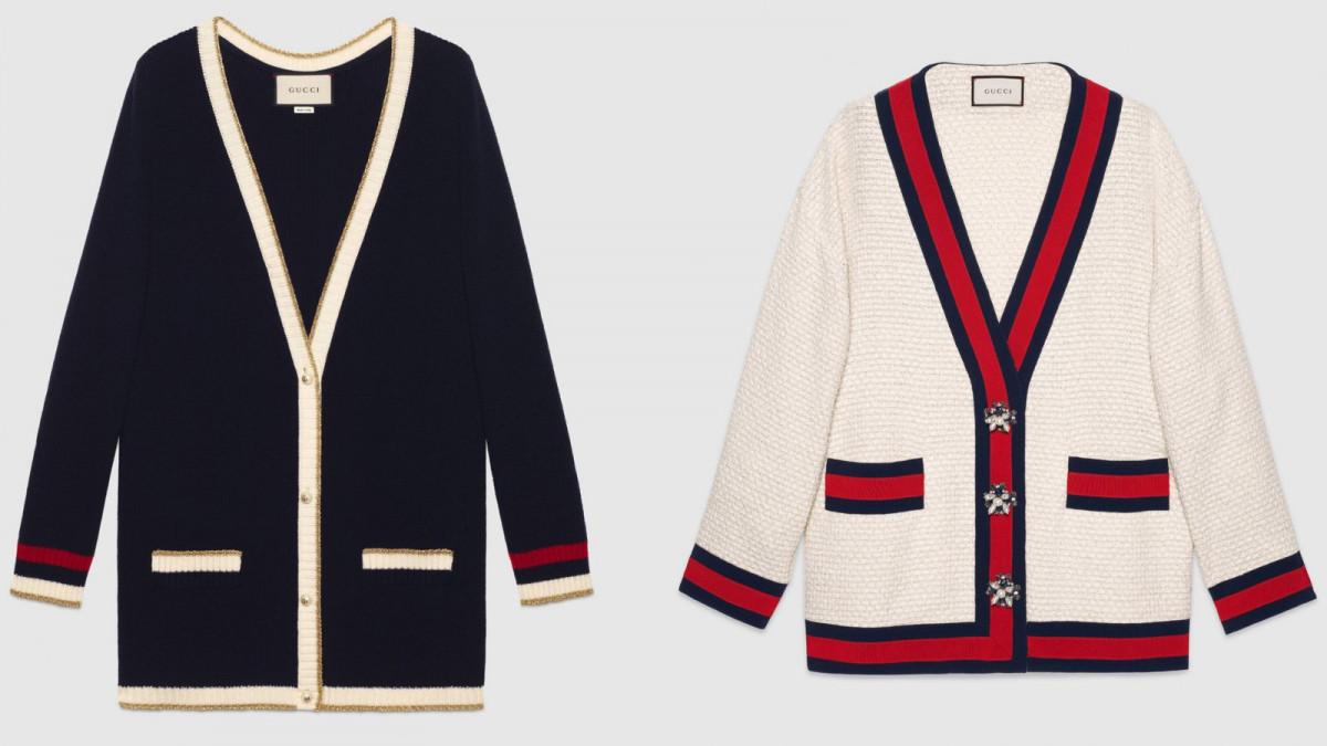 Dos de los diseños de Gucci, que alcanzan los 1.490 y 2.200 euros, respectivamente