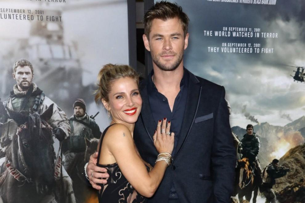 Elsa Pataky junto a su marido Chris Hemsworth durante el estreno de su última película