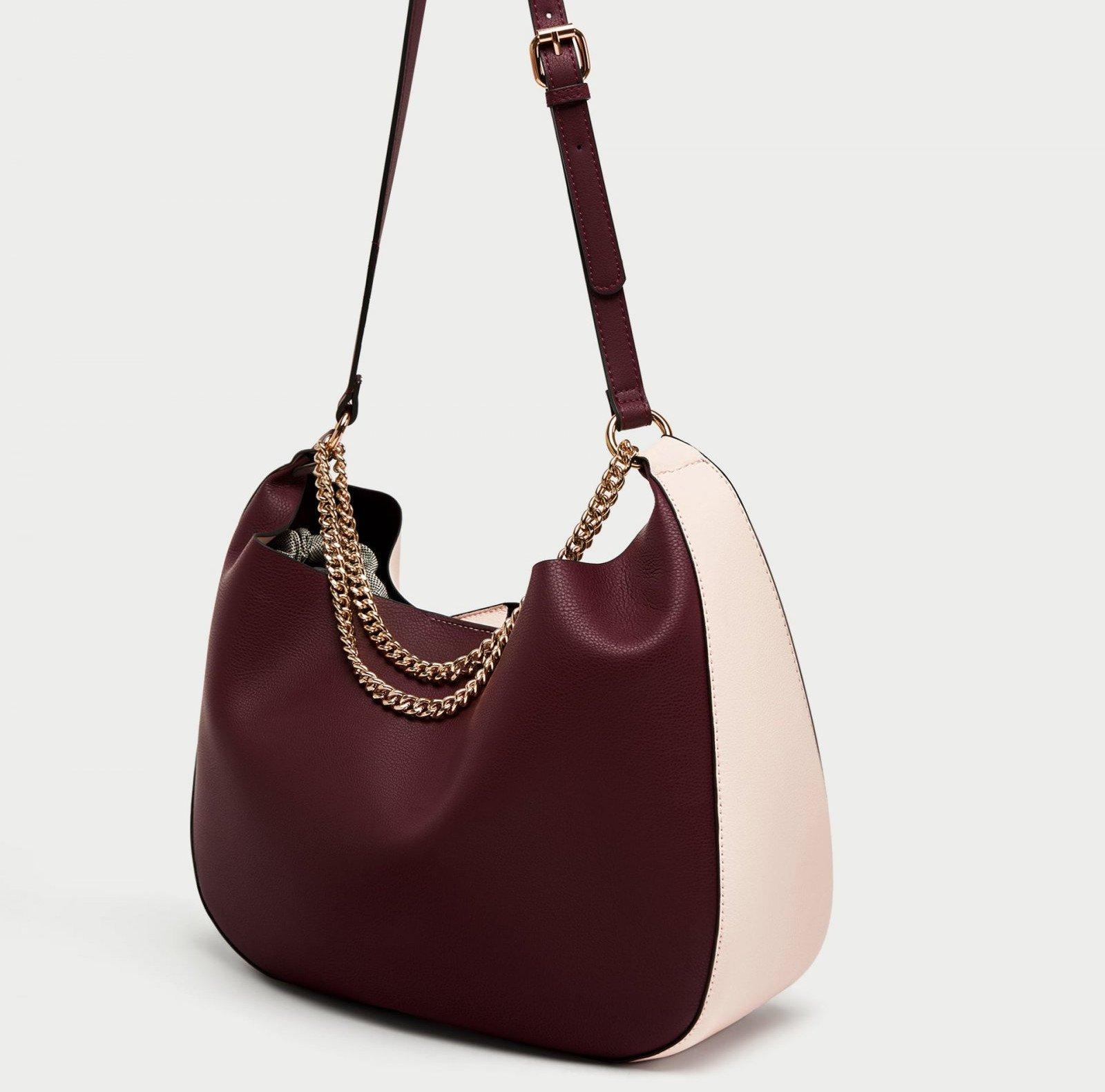 Bolso con cadenas de Zara, por 5,99 euros (antes 15,99)
