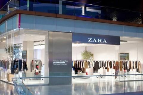 Imagen de la tienda temporal de Zara especializada en compras 'online'