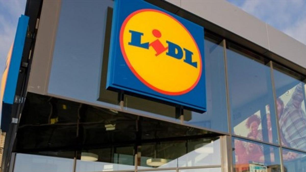 Imagen del rótulo de un supermercado Lidl