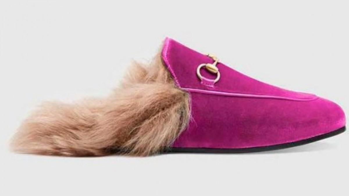Slipper Princetown de Terciopelo de Gucci