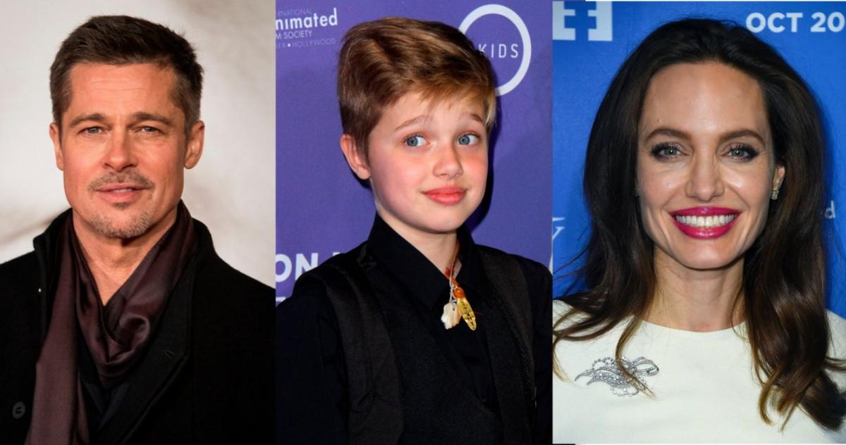 Brad Pitt, Shiloh Jolie Pitt y Angelina Jolie