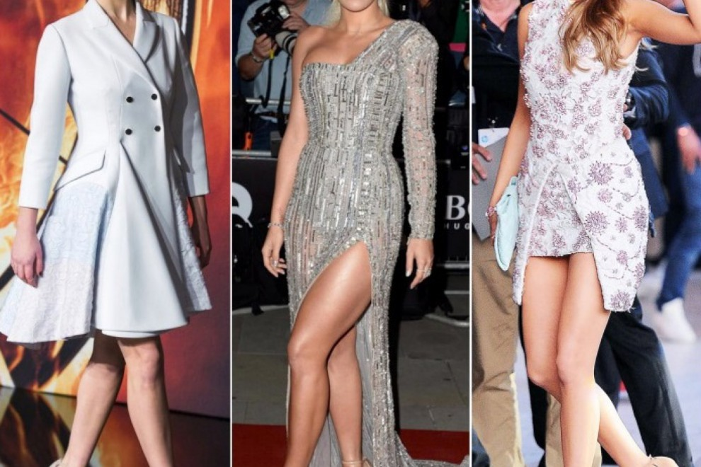 Jennifer Lawrence, Rita Ora y Blake Lively con las sandalias 'nude' de Stuart Weitzman