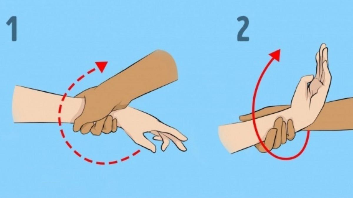 Qué hacer si te coge de las manos.