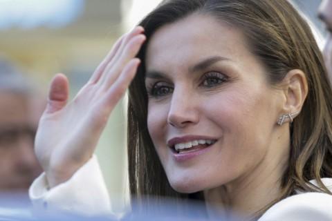 La reina Letizia a su llegada a su último acto público
