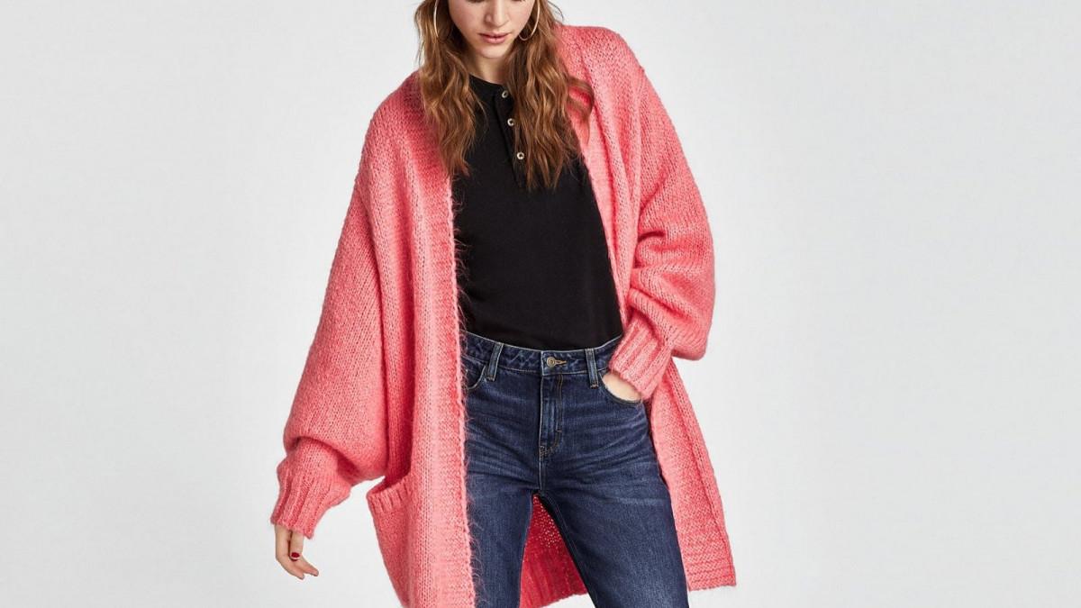Chaqueta 'oversize' de color rosa de Zara, por 29,95 euros
