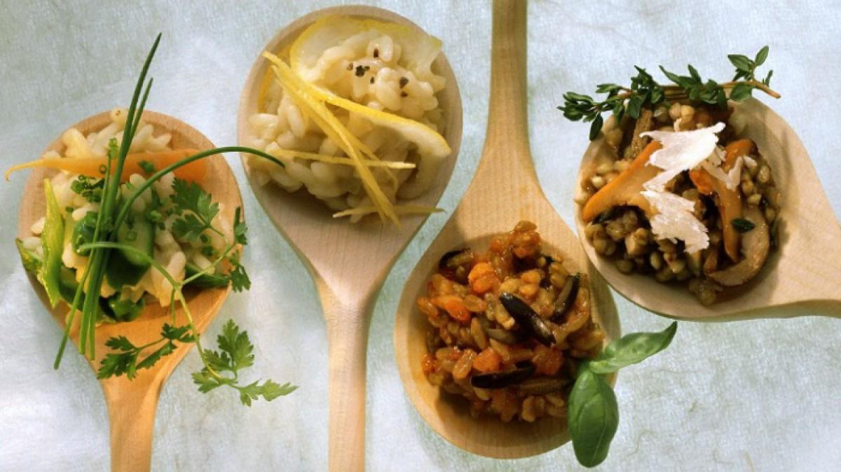 Existen muchos tipos de risotto según los ingredientes principales.
