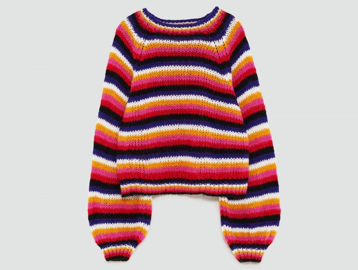 Jersey rayas multicolor de Zara, por 29,95 euros